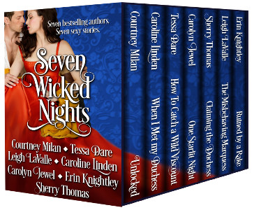 cover for seven wicked nights, a boxed set