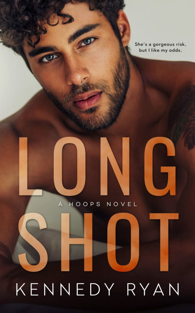 cover of Long Shot by Kennedy Ryan: A multiracial man looking at the viewer