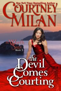 The Devil Comes Courting: A woman in a red dress with the sea in the background