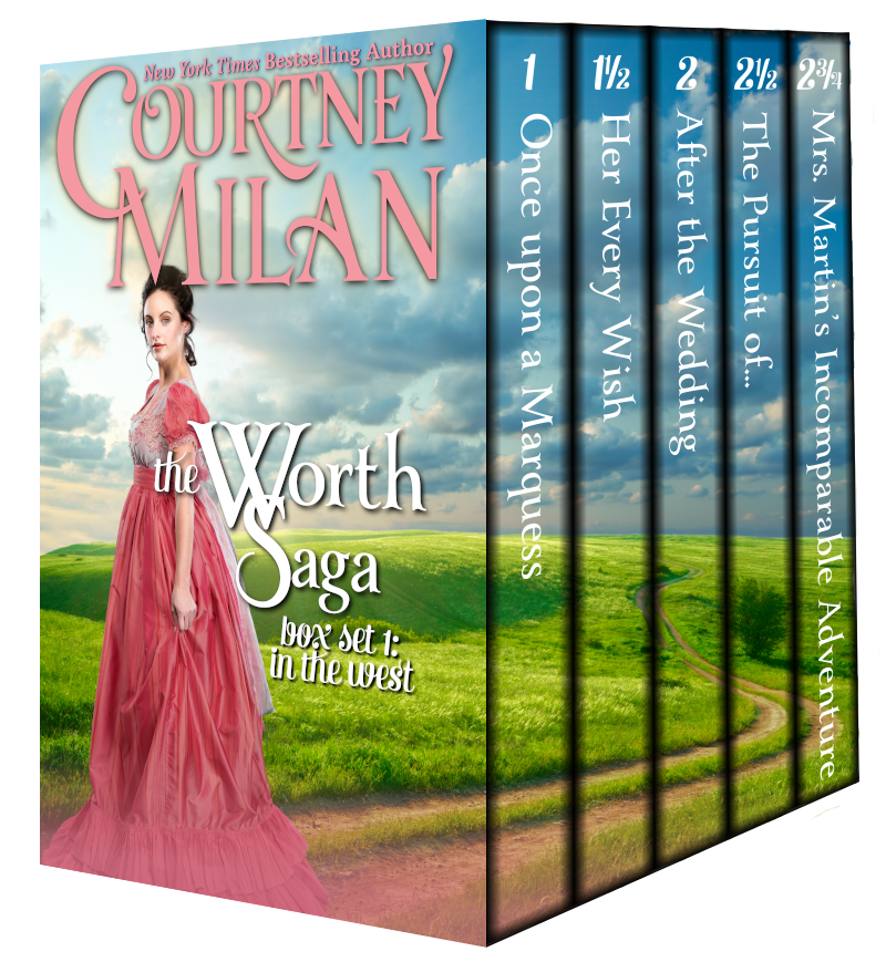 A boxed set of Courtney Milan's The Worth Saga
